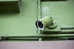 Камера слежения CCTV против строить все в зеленом цвете Стоковые Изображения RF