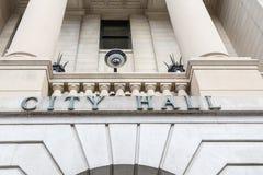 Камера слежения здание муниципалитета Стоковое Фото