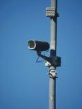 Камера слежения инфракрасн против голубого неба Стоковая Фотография