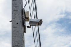 Камера слежения или камера слежения CCTV на поляке Стоковая Фотография RF