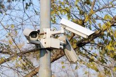 Камера слежения или CCTV в парке Стоковое Изображение RF