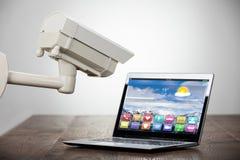 Камера слежения на компьтер-книжке стоковые фотографии rf
