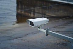 Камера слежения на доке Стоковая Фотография