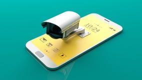 Камера слежения на smartphone иллюстрация 3d Стоковые Фото