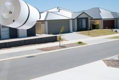 Камера слежения дома контролируя улицу Стоковые Изображения RF