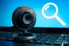 Камера слежения сети стоковая фотография rf