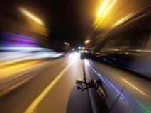 Камера установила на стороне автомобиля в движении Стоковое фото RF