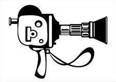 Камера фильма вектора винтажная изолированная на белизне Стоковое Изображение RF