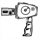 Камера фильма вектора винтажная изолированная на белизне Стоковые Изображения RF