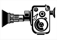 Камера фильма вектора винтажная изолированная на белизне Стоковые Изображения