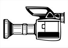 Камера фильма вектора винтажная изолированная на белизне Стоковое фото RF