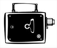 Камера фильма вектора винтажная изолированная на белизне Стоковое Фото