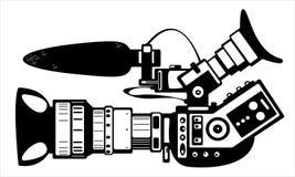 Камера фильма вектора современная изолированная на белизне Стоковая Фотография