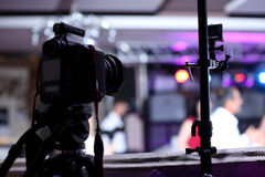 Камера фото на событии стоковое фото rf