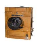 Камера фото старая, деревянный, см размера рамки 18 x 24 Стоковое Фото