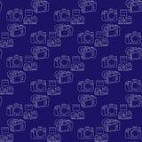 Камера цифров SLR на синей предпосылке Стоковая Фотография
