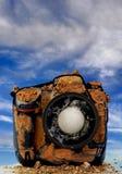 Камера шара для игры в гольф стоковая фотография