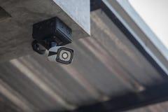 Камера CCTV безопасностью в жилищном строительстве стоковое изображение rf