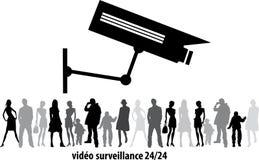 Камера CCTV замкнутой телевизионной системы, безопасности или система охраны в торговом центре офисного здания, видео пользы пере Стоковое Фото