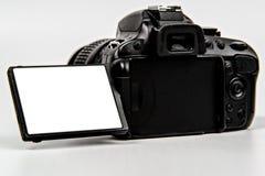 Камера DSLR с экраном сальто для размещения стоковые изображения