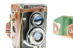 Камера Flexaret IV, старая камера от Чехословакии Стоковая Фотография