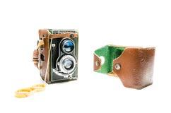 Камера Flexaret IV, старая камера от Чехословакии Стоковые Фото