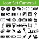 Камера i значка установленная бесплатная иллюстрация