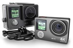 Камера 4K действия для весьма видеозаписи 3D бесплатная иллюстрация