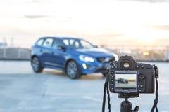 Камера Nikon D800 фото принимая изображениям Volvo XC 60 T6 AWD Polestar Стоковое фото RF