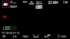 Камера Panasonic на верхних слоях экранного дисплея видеоматериал
