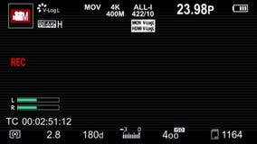 Камера Panasonic на верхних слоях экранного дисплея с scanlines видеоматериал