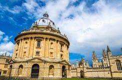 Камера Radcliffe, библиотека Оксфордского университета стоковая фотография rf