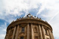 Камера Radcliffe с голубым небом и облаками стоковая фотография rf