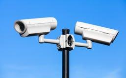 2 камеры замкнутой телевизионной системы Стоковая Фотография RF