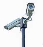 2 камеры замкнутой цепи изолированной на белизне Стоковое Изображение RF