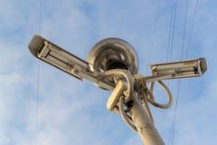 2 камеры и свет CCTV Стоковые Фотографии RF