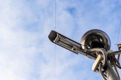 2 камеры и свет CCTV Стоковое фото RF