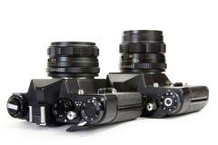 Камеры на белизне Стоковые Фото