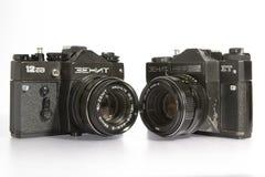 Камеры на белизне Стоковая Фотография RF