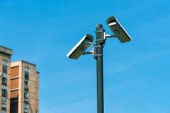 Камеры слежения в городском округе Стоковые Изображения RF