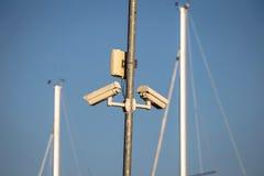 Камеры слежения в плавать гавань Стоковые Фото