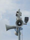 Камеры слежения и громкоговорители Стоковая Фотография RF