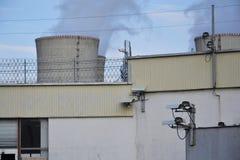 Камеры слежения на атомной электростанции Стоковое Изображение RF