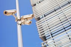Камеры слежения на поляке Стоковые Фото