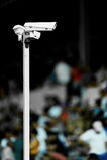 Камеры слежения на стадионе Стоковое Изображение