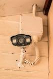 Камеры слежения на стене Стоковые Изображения