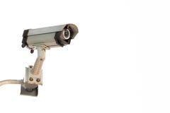 Камеры слежения CCTV вне белого здания Стоковое фото RF
