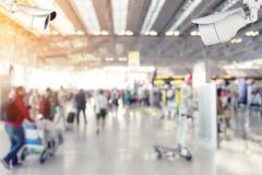 Камеры слежения (CCTV) внутри авиапорта Стоковые Изображения