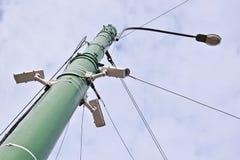 Камеры CCTV и поляк уличного фонаря Стоковые Изображения RF