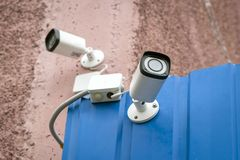 Камеры CCTV повседневная реальность стоковая фотография